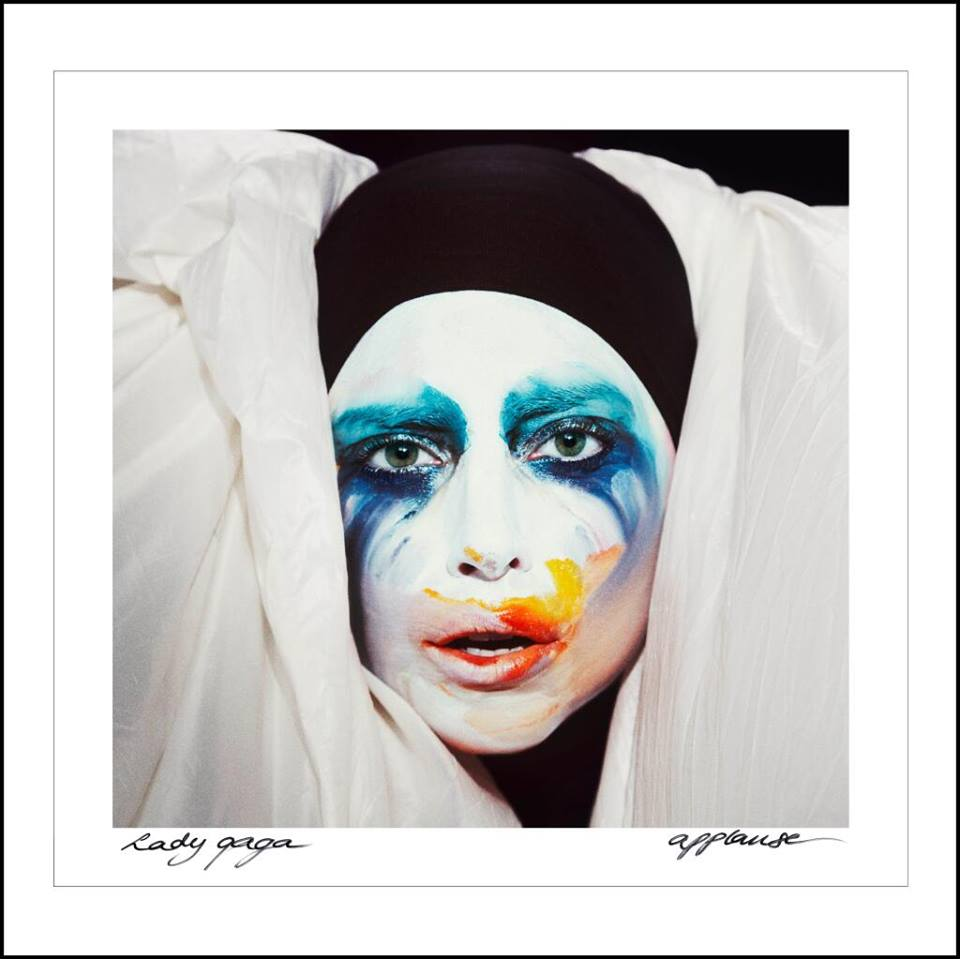 lady gaga single cover applause