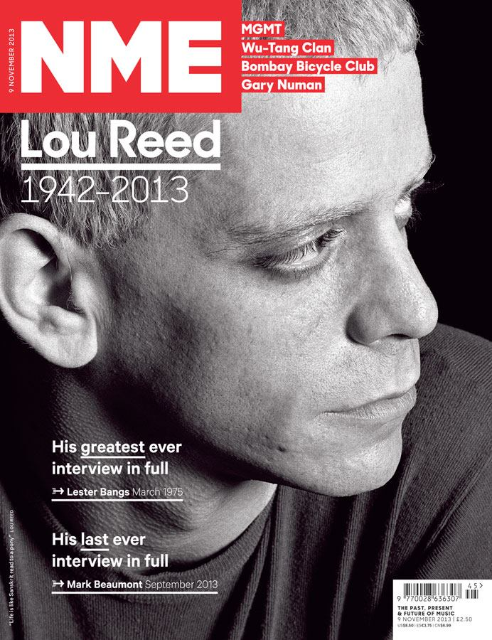 Lou Reed covers NME magazine
