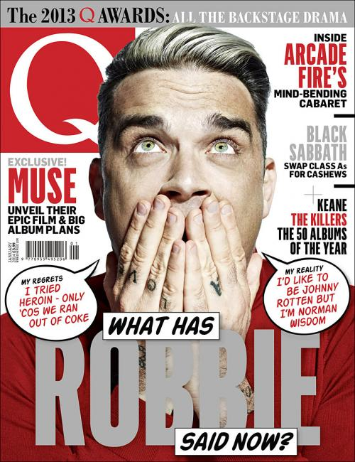 Robbie Williams covers Q magazine