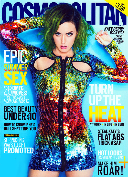 katy perry rainbow cover cosmo